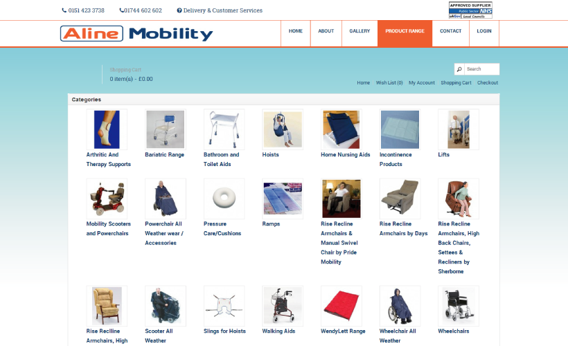 Aline Mobility eCommerce